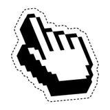 Hand pointer cursor icon Stock Photo