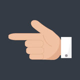 Hand pointer icon. Forefinger icon. Stock Image