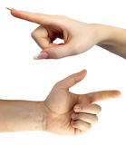 Hand pointing Royalty Free Stock Photo