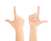 Hand pointing Stock Photos
