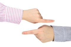 Hand pointing Royalty Free Stock Photography