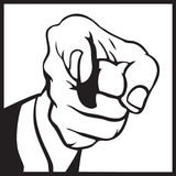 Hand pointing. A Hand pointing to you royalty free illustration