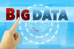 Hand pointing BIG DATA Stock Photos