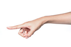 Hand pointing direction. Stock Photography