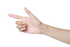 Hand pointing direction isolated Royalty Free Stock Photos
