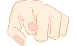Hand pointing finger  Royalty Free Stock Image