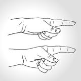Hand with pointing finger Royalty Free Stock Photography