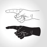 Hand with pointing finger Royalty Free Stock Images
