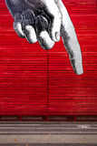 Hand pointing - graphic street art - London Royalty Free Stock Photography