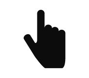 Hand pointing illustrated. On a white background Stock Image