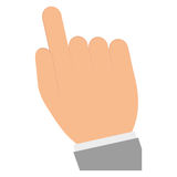 Hand pointing with index finger icon image. Vector illustration design Royalty Free Stock Photography