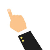Hand pointing with index finger icon. Simple flat design hand pointing with index finger icon illustration Vector Illustration