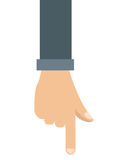 Hand pointing with index finger icon Stock Images