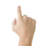 Hand pointing pressing or touching Royalty Free Stock Images