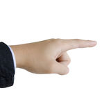Hand pointing pressing or touching Stock Photo
