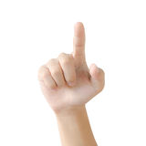Hand pointing pressing or touching Stock Image