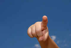 Hand pointing Royalty Free Stock Images