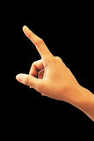 Hand pointing touching Royalty Free Stock Image