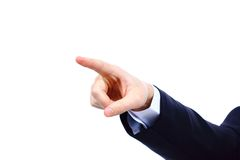 Hand pointing, touching or pressing isolated Royalty Free Stock Photography