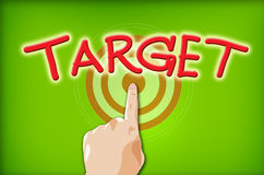 Hand pointing touching to Target Stock Images