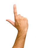 Hand pointing up Stock Image