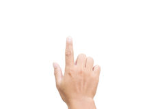 Hand Pointing On White Background Royalty Free Stock Photos