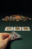 hand poker fotografering för bildbyråer