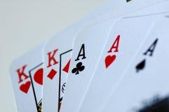 hand poker Royaltyfria Bilder