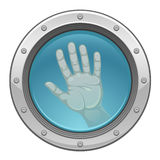Hand in porthole Royalty Free Stock Image