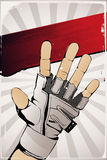 Hand poster. Vector poster hand in retro style Stock Photos