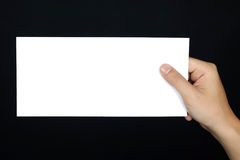 Hand posture Hold blank placard  isolated Royalty Free Stock Images