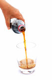 Hand pouring cool drink Royalty Free Stock Photos