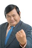 Hand of power. Portrait of a senior businessman expressing power by showing fist Stock Photos
