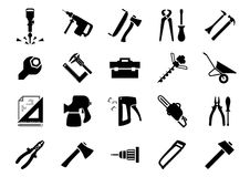 Hand and power tools icons Stock Photos