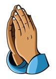 Hand prayer. Eps 10  illustration Design Royalty Free Stock Photography