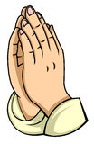 Hand prayer Royalty Free Stock Photo