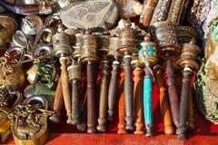 Hand prayer wheels Stock Photos