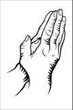 Hand praying Stock Photo