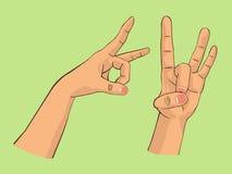 Hand preparing to flick Stock Photo