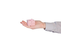 Hand with present Stock Images