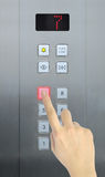 Hand press 7 floor Royalty Free Stock Images