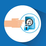 Hand press folder file music security Royalty Free Stock Photo