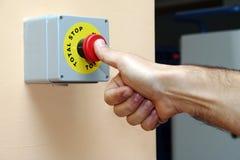 Hand press Full stop Stock Image