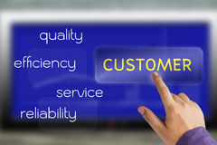 Customer touch screen Stock Photos