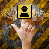 Hand press touch Worker symbol Stock Photos