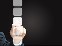 hand press touchscreen Royalty Free Stock Image