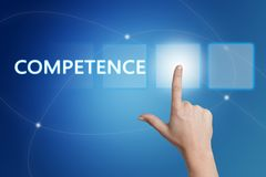 Competence text concept stock photography