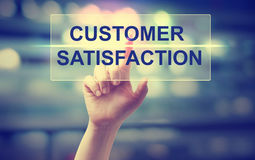 Hand pressing Customer Satisfaction Royalty Free Stock Photography