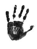 Hand print. On white background,  illustration Stock Image
