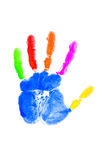 Hand print. On the white Stock Photography